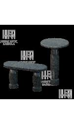 Стол и лавка из синего гранита SL-3