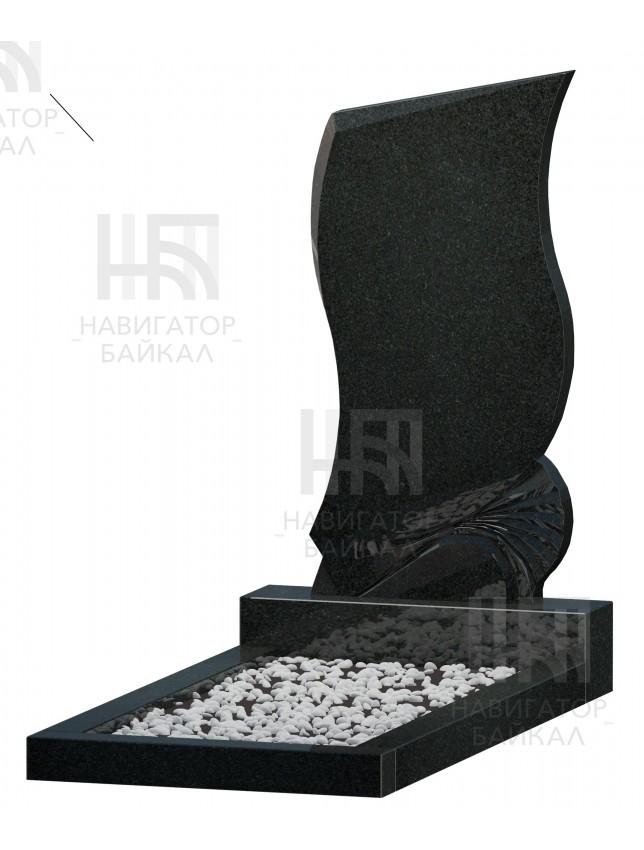 Фигурный памятник FZ-69R, черный гранит, 3 размера