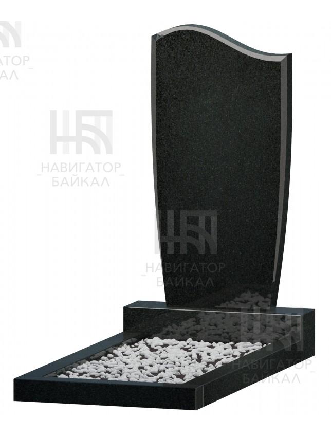 Фигурный памятник FZ-72, черный гранит, 3 размера