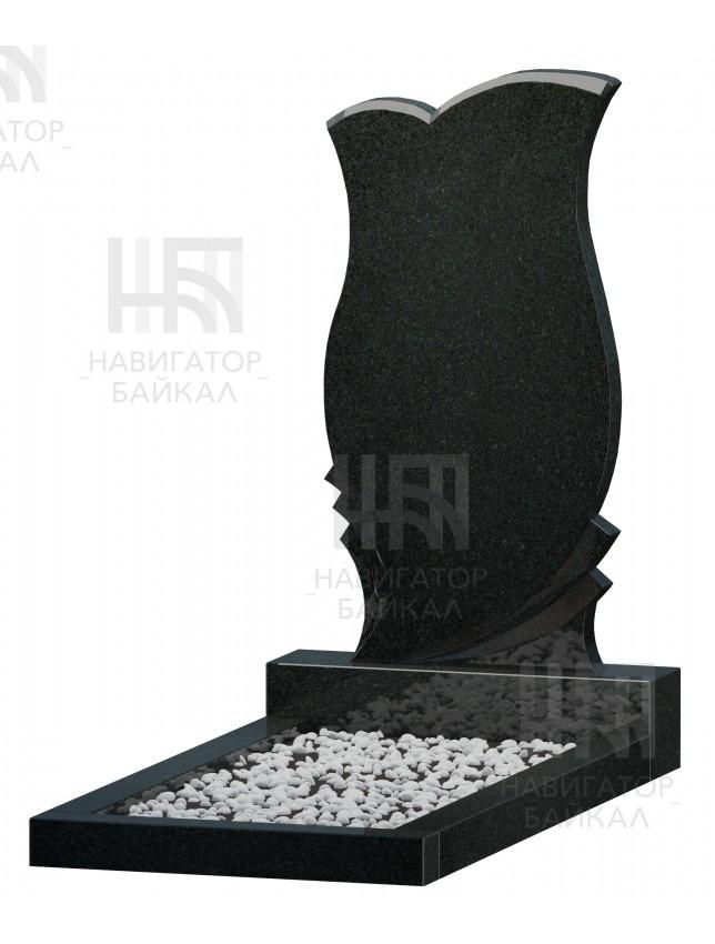 Фигурный памятник FZ-76, черный гранит, 3 размера