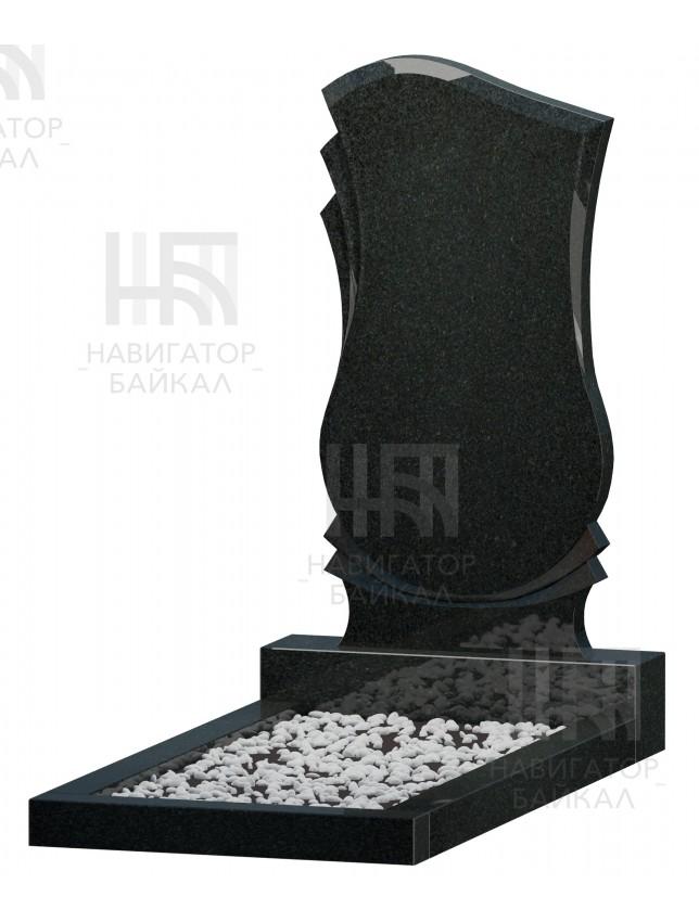 Фигурный памятник FZ-80L, черный гранит, 3 размера
