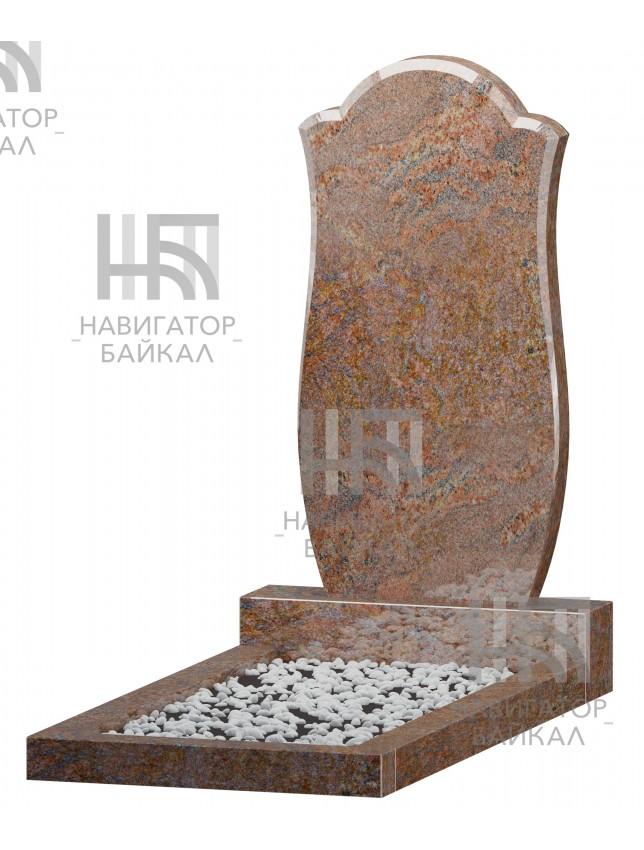 Фигурный памятник FZ-50, красный гранит, 3 размера