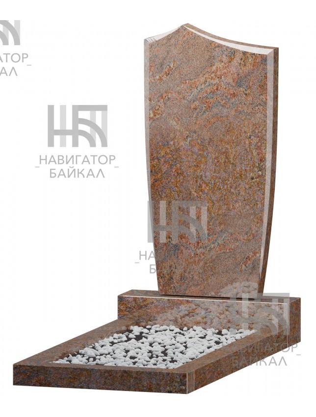 Фигурный памятник FZ-68, красный гранит, 3 размера