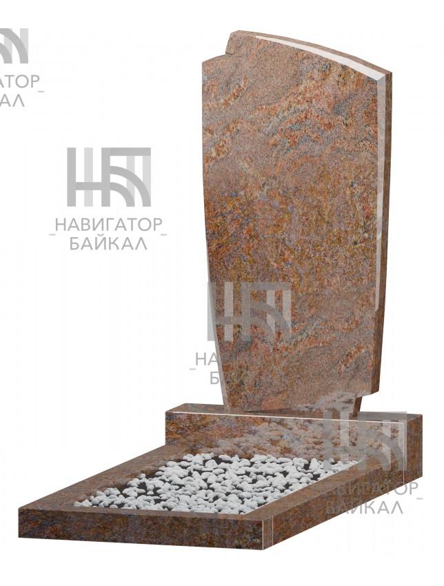 Фигурный памятник FZ-70, красный гранит, 3 размера