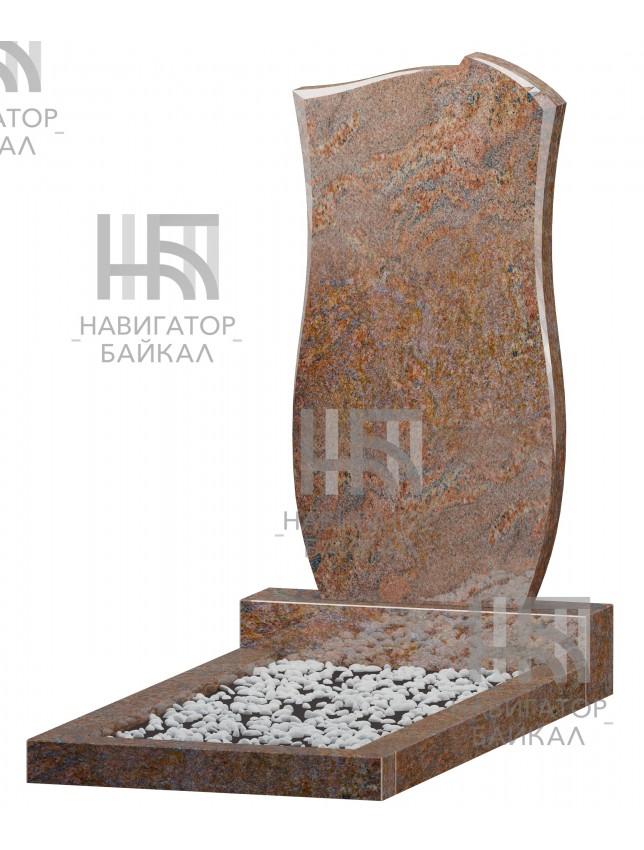 Фигурный памятник FZ-71, красный гранит, 3 размера