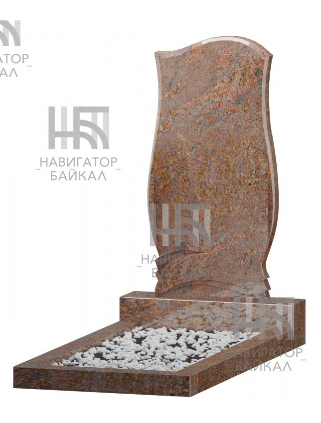 Фигурный памятник FZ-74, красный гранит, 3 размера