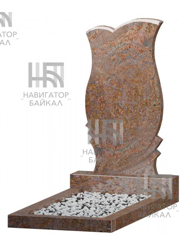 Фигурный памятник FZ-76, красный гранит, 3 размера