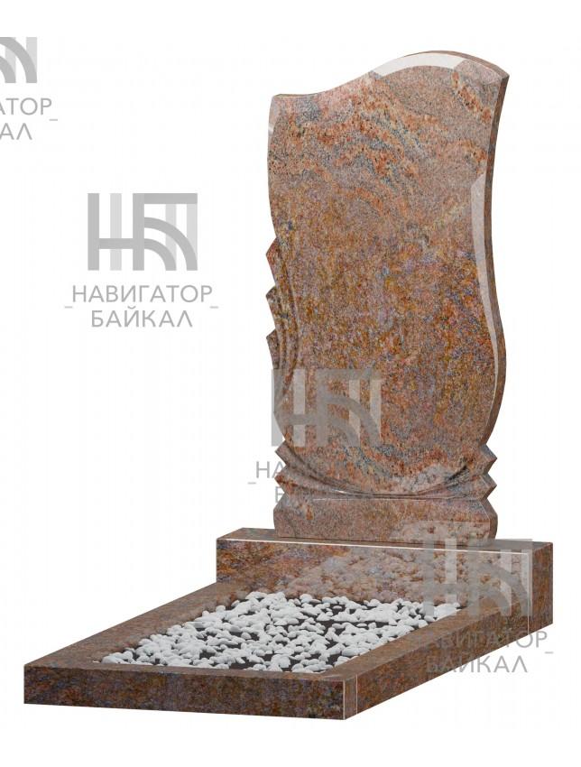Фигурный памятник FZ-78r, красный гранит, 3 размера