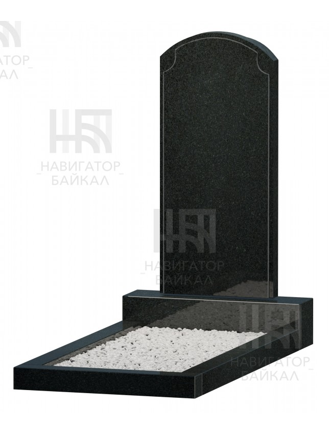 Фигурный памятник JD-13, черный гранит, 3 размера