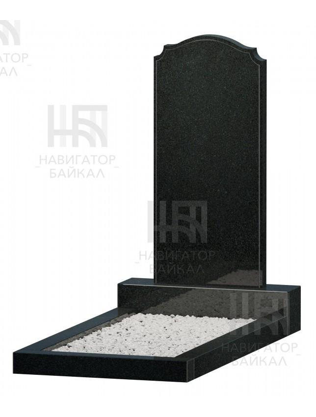 Фигурный памятник JD-17, черный гранит, 3 размера