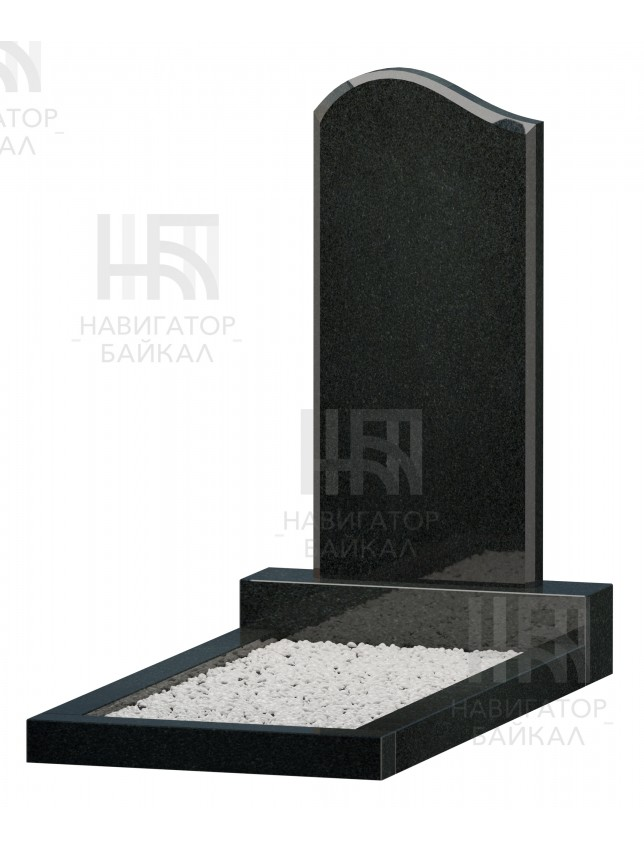 Фигурный памятник JD-1L, черный гранит, 3 размера
