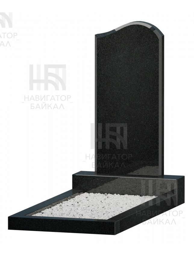 Фигурный памятник JD-1R, черный гранит, 3 размера