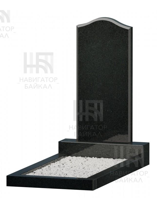 Фигурный памятник JD-2, черный гранит, 3 размера
