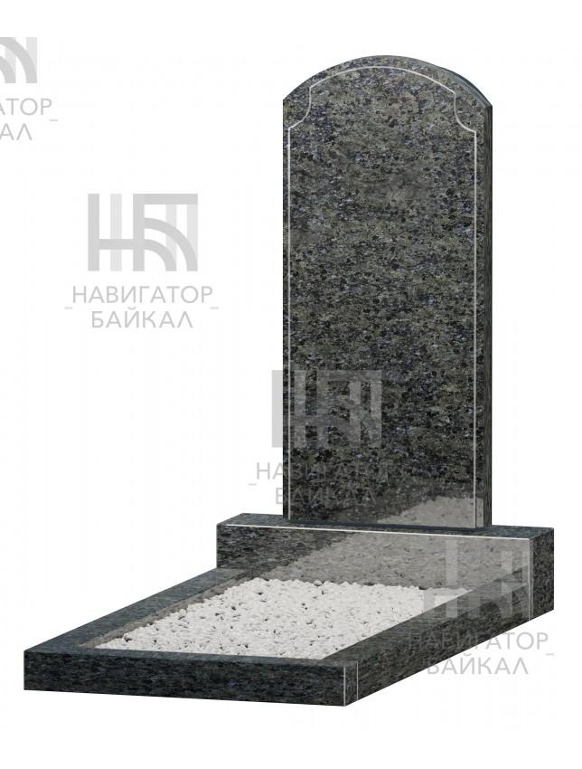 Фигурный памятник JD-13, синий гранит, 2 размера
