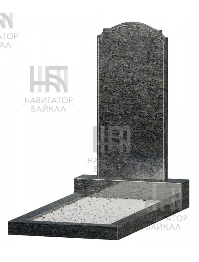 Фигурный памятник JD-17, синий гранит, 2 размера