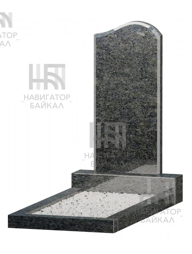 Фигурный памятник JD-1L, синий гранит, 2 размера