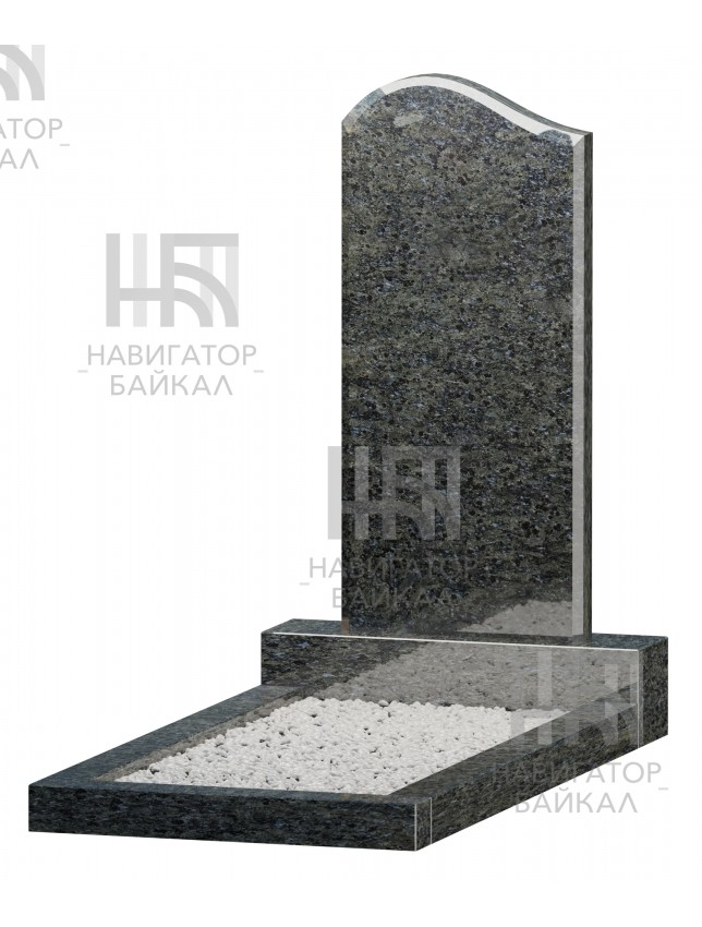 Фигурный памятник JD-1R, синий гранит, 2 размера