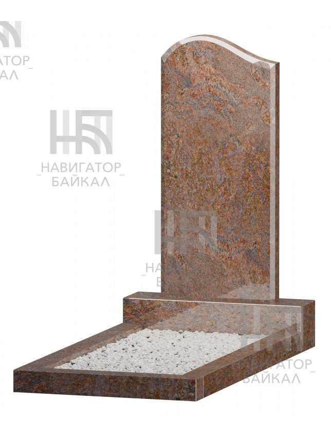 Фигурный памятник JD-1L, красный гранит, 3 размера