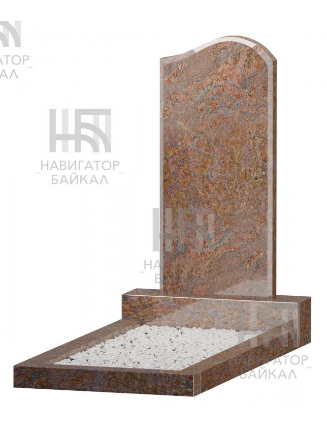 Фигурный памятник JD-1R, красный гранит, 3 размера