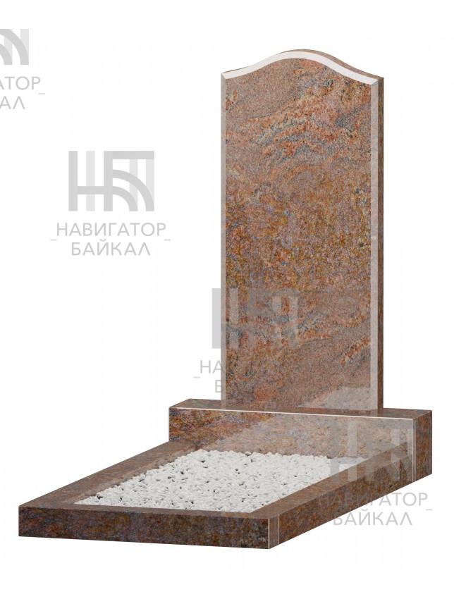 Фигурный памятник JD-2, красный гранит, 3 размера