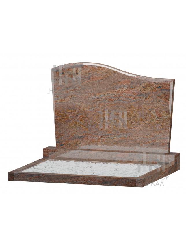 Семейный памятник WB-104, красный гранит