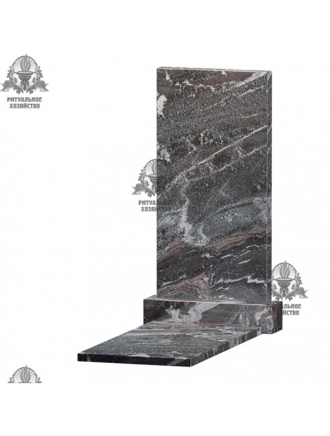 Гранатовый амфиболит (гранит) с надгробной плитой, 2 размера
