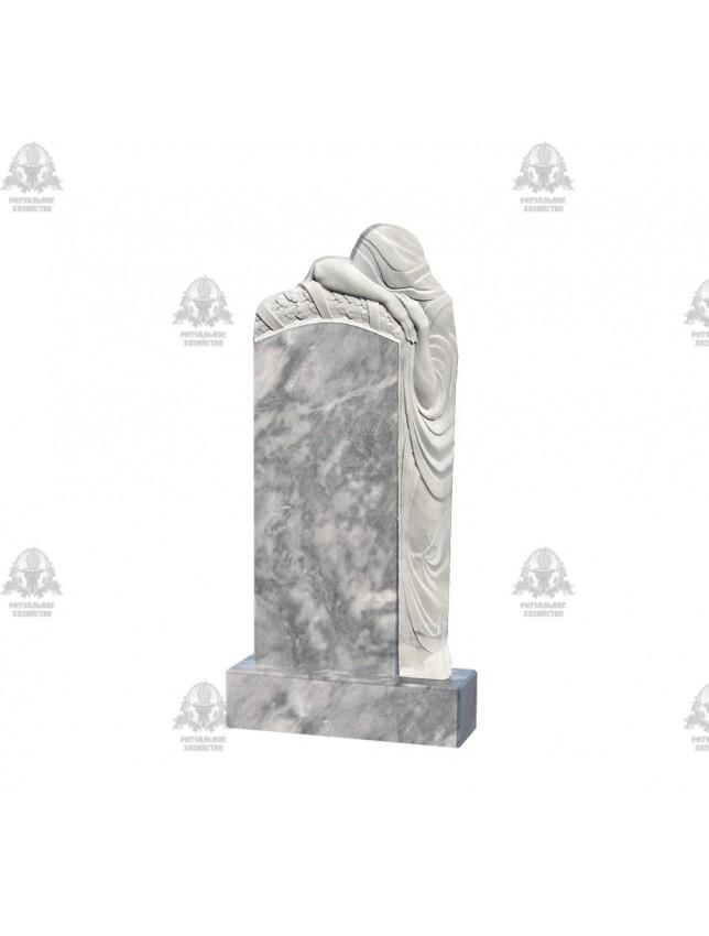 Фрезеровка на мраморном памятнике «Скорбящие, тип 1»