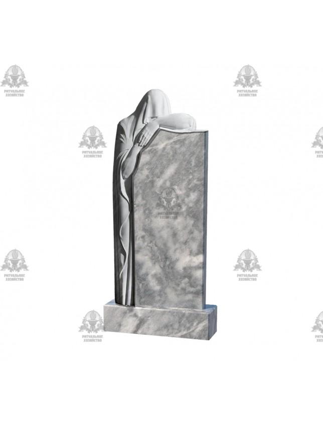 Фрезеровка на мраморном памятнике «Скорбящие, тип 2»