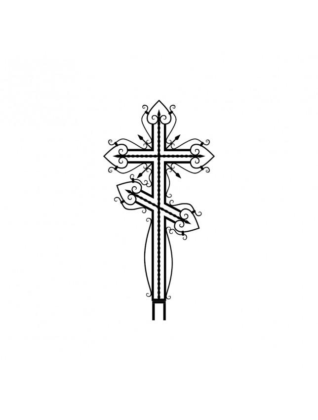 Крест на могилу кованый (вариант 5)