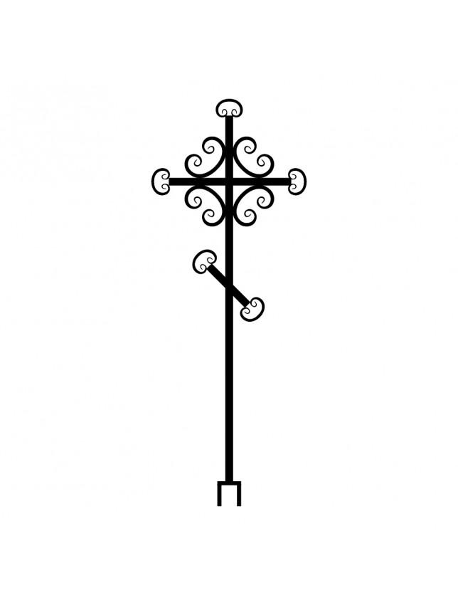 Крест на могилу с декоративными элементами