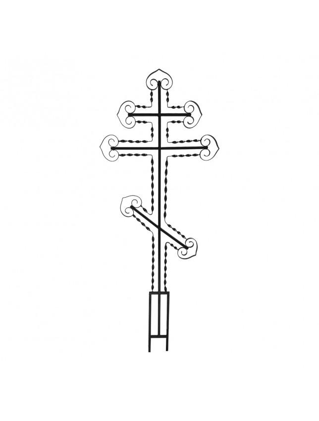 Крест на могилу c винтовыми полосами
