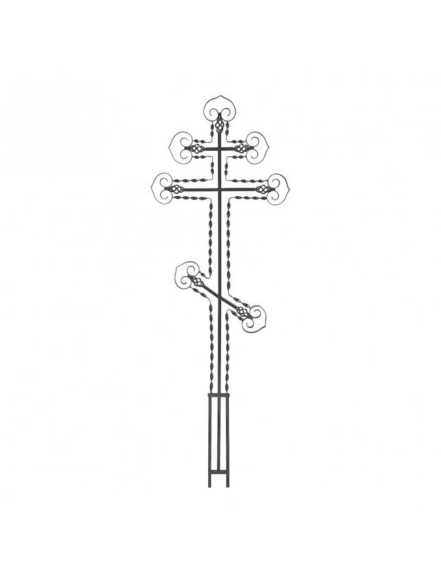 Крест на могилу c винтовыми полосами (вариант 2)