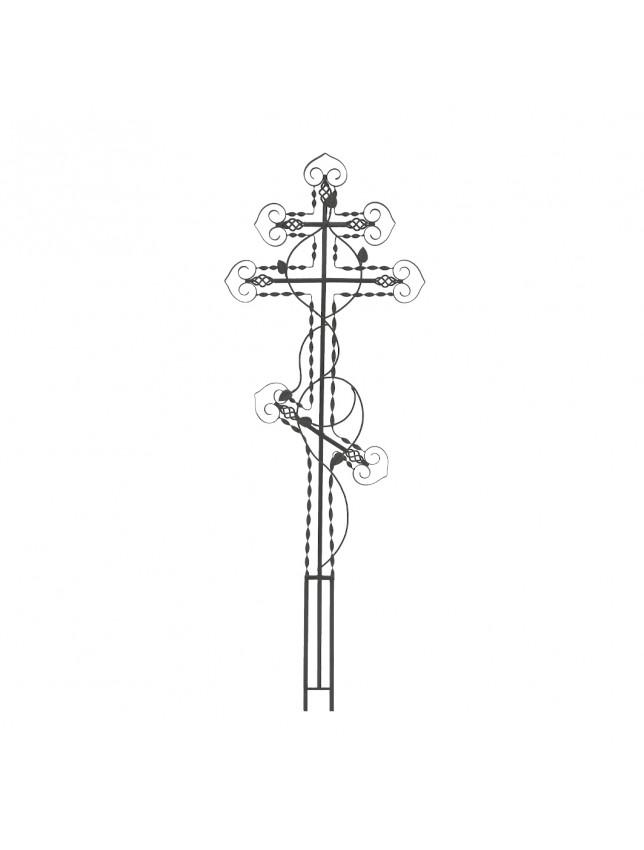 Крест на могилу c винтовыми полосами (вариант 3)