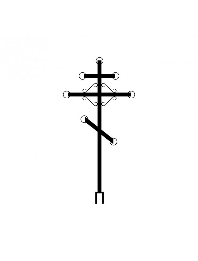 Крест на могилу металлический (вариант 2)