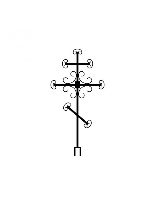 Крест на могилу кованый (вариант 2)