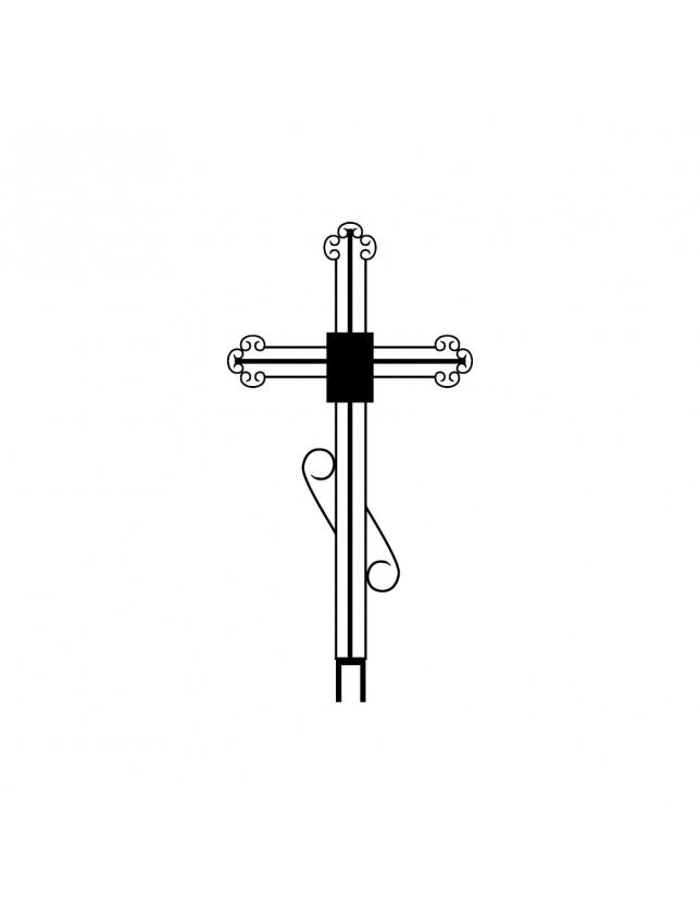 Крест на могилу кованный