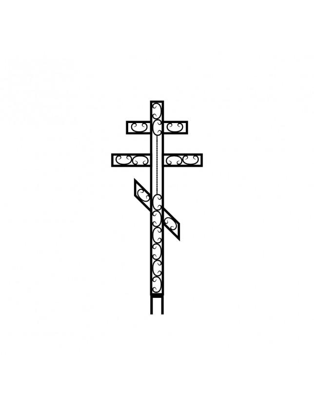 Крест на могилу кованый (вариант 3)