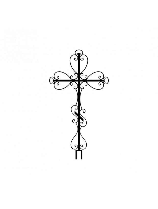 Крест на могилу кованый (вариант 4)