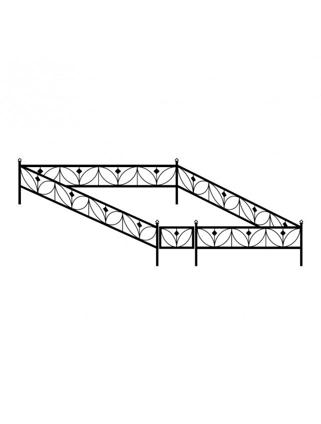 Сварная могильная ограда (тип 1)
