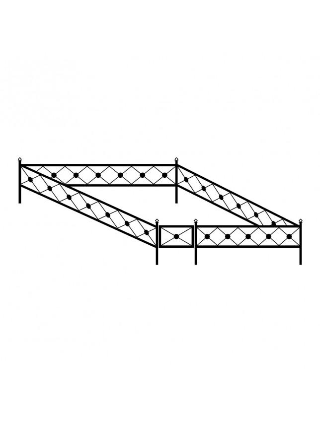 Сварная могильная ограда (тип 2)