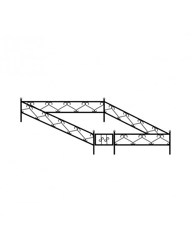 Простая могильная ограда (тип 1)