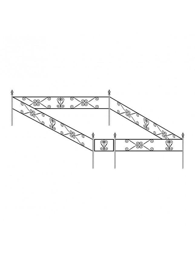 Простая могильная ограда (тип 2)