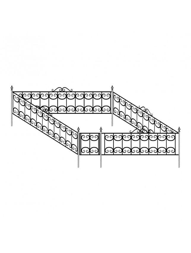 Ограда декоративная (тип 3)