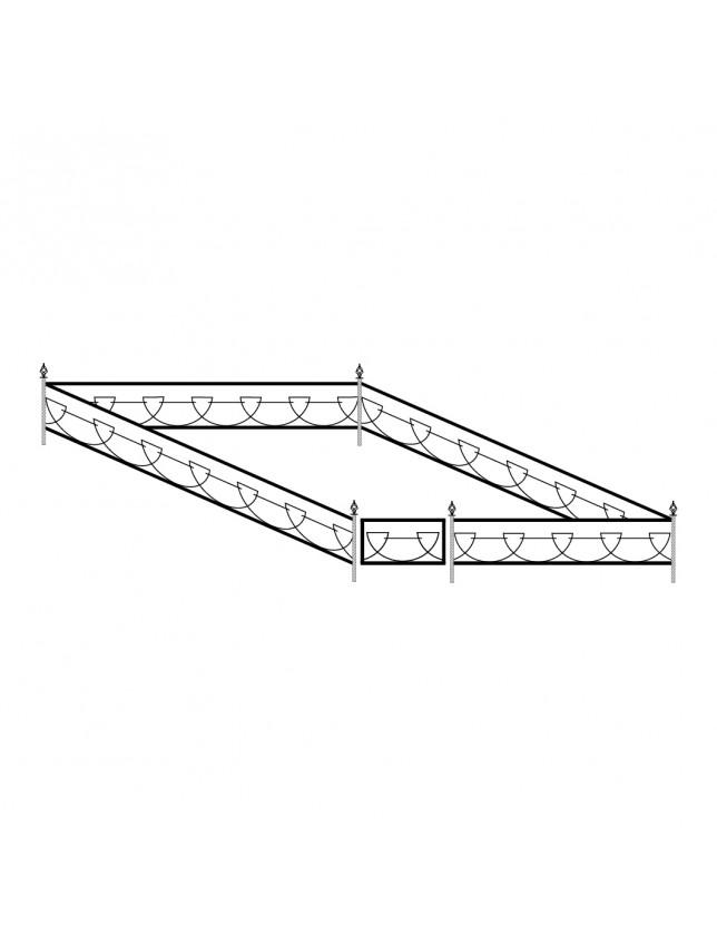 Кованная могильная ограда (тип 6)