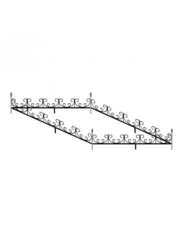 Кованная могильная ограда (тип 7)