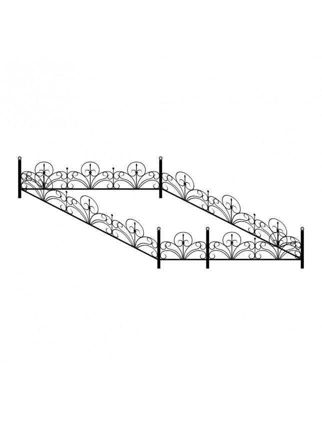 Кованная могильная ограда (тип 5)