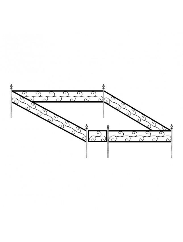 Кованная могильная ограда (тип 2)