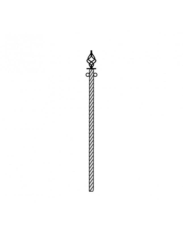 Витой столб для ограды